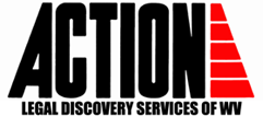 Logo, Action Legal Discovery Services of West Virginia, LLC